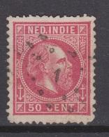Nederlands Indie Nr 15 TOP CANCEL WELTEVREDEN 1 ; Koning King Roi Rey Willem III 1870 Netherlands Indies PER PIECE - Nederlands-Indië