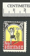 B55-25 CANADA Lions Crippled Children's Fund Of B.C. 1949 Seal MNH - Viñetas Locales Y Privadas