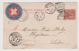 """Etichetta Pubblicitaria """"Hotel Helvetia"""", Firenze, Su Cartolina - F.p. - Anni '1900 - Pubblicitari"""