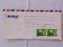 Papua New Guinea 2001 Cover To USA - PHILEX France - Bishop Alain-Marie - Papua-Neuguinea