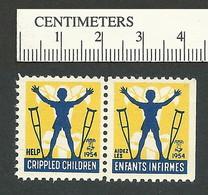 B55-28 CANADA 1954 Crippled Children Easter Seal MNH English & French - Viñetas Locales Y Privadas