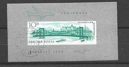 1964 USED Hungary Mi Block 45B Imperforate - Ungarn