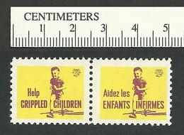 B55-32 CANADA 1959 Crippled Children Easter Seals MNH English & French - Viñetas Locales Y Privadas