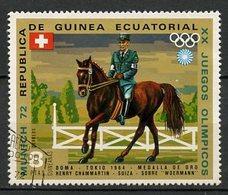 Guinée Equatoriale - Guinea 1972 Y&T N°25-8p - Michel N°(?) (o) - 8p JO Munich 72  Chammartin - Äquatorial-Guinea