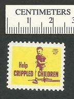 B55-33 CANADA 1959 Crippled Children Easter Seal MNH English - Viñetas Locales Y Privadas