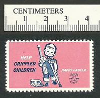 B55-35 CANADA 1960 Crippled Children Easter Seal MNH English - Viñetas Locales Y Privadas