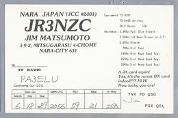JP.- QSL KAART. CARD. JAPAN. JR3NZC. JIM MATSUMOTO, NARA - CITY. - Radio-amateur