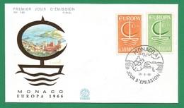 Monaco 1966 Mi.Nr. 835 /836 ,  EUROPA CEPT - FDC  Premier Jour 26.9.66 - Europa-CEPT