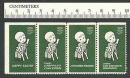 B55-36 CANADA 1962 Crippled Children Easter Seals MNH English & French - Viñetas Locales Y Privadas