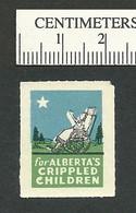 B55-38 CANADA Alberta Crippled Children 1946 Charity Seal MNG - Viñetas Locales Y Privadas