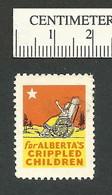 B55-39 CANADA Alberta Crippled Children 1951 Charity Seal Used - Viñetas Locales Y Privadas