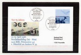 BRD, 2003, FDC Mit Michel 2331, Echt Gelaufen, Nordatlantikflug Ost - West - FDC: Enveloppes
