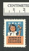 B55-40 CANADA Alberta Crippled Children 1953 Charity Seal MNG - Viñetas Locales Y Privadas