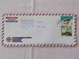 Papua New Guinea 2001 Cover To USA - Shell - Ships - Papua-Neuguinea