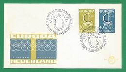 Niederlande / Nederland 1966  Mi.Nr. 864 / 865 , EUROPA CEPT - FDC   26. September 1966 - Europa-CEPT