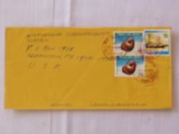 Papua New Guinea 2001 Cover To USA - Shells - Ship German Administration Samoa - Papua-Neuguinea