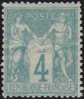 France  .   Yvert   .     63  (2 Scans)  .      (*)      .     Pas De Gomme    .  /   .  No Gum - 1876-1878 Sage (Type I)