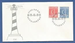 Schweiz / Helvetia  1966  Mi.Nr. 843 / 844 , EUROPA CEPT - FDC  Bern  26. 9.1966 - Europa-CEPT