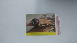 Cuba-polymita Picta Iolimbata-urmet-(7.00pesos)-used Card+1card Prepiad Free - Kuba