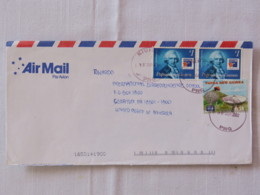 Papua New Guinea 2002 Cover To USA - PHILEX France - Count De Bougainville - Radio Earth Station - Papua-Neuguinea