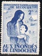 FRANCE - LOT 60 - COMITE NATIONAL DE SECOURS AUX INONDES DE L'INDOCHINE - VIGNETTE à 2 F - Rotes Kreuz