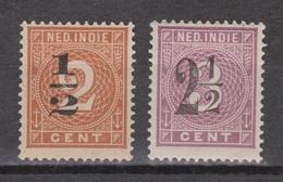 Nederlands Indie 38-39 MLH ; Hulpuitgifte Cijfer, Cifre, Figure, Cifra 1902 NOW NETHERLANDS INDIES PER PIECE - Nederlands-Indië