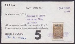 Portugal, 1960 - GAZ CIDLA / Contract Receipt - Odivelas - Portugal