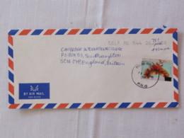 Papua New Guinea 2005 Cover To England - Cheap Rate - Headdress - Papua-Neuguinea