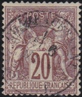 France  .   Yvert   .      67      .        O          .        Oblitéré - 1876-1878 Sage (Type I)