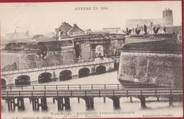 Spaanse Omwalling Porte Rouge Rode Poort Paardenmarkt Tunnelplaats Antwerpen Anvers En 1860 (zeer Goede Staat) - Antwerpen