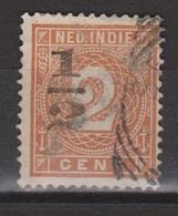 Nederlands Indie Netherlands Indies 38FB Used ; Hulpuitgifte Cijfer, Cifre, Figure, Cifra MET VERSCHOVEN OPDRUK - Nederlands-Indië