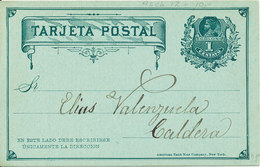 Chile Postal Stationery Postcard From 188? - Chile