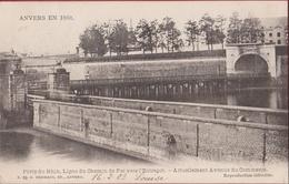 Spaanse Omwalling Porte Du Rhin, Ligne Du Chemin De Fer Vers L'Entrepôt - Rijnpoort (zeer Goede Staat) - Antwerpen