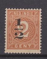Nederlands Indie Netherlands Indies 38FB MLH ; Hulpuitgifte Cijfer, Cifre, Figure, Cifra MET VERSCHOVEN OPDRUK - Nederlands-Indië
