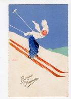 Ph3 - 265 - ILLUSTRATEUR - E. MARTIN - Ski   -  Bonne Année - Autres Illustrateurs