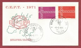 Italien  1971  Mi.Nr. 1335 / 1336 , EUROPA CEPT - First Day Cover  -3.-5. 1971 - Europa-CEPT