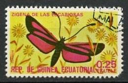 Guinée Equatoriale - Guinea 1975 Y&T N°71-0,25e - Michel N°(?) (o) - 0,25e Papillon Zigéna - Guinée Equatoriale