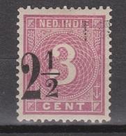 Nederlands Indie Netherlands Indies 39FB Used ; Hulpuitgifte Cijfer, Cifre, Figure, Cifra MET VERSCHOVEN OPDRUK - Nederlands-Indië