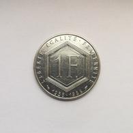 1 Franc Münze Aus Frankreich Von 1988 (sehr Schön) 30. Jahrestag Der 5. Republik (mit Münzzeichen) - H. 1 Franc