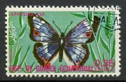 Guinée Equatoriale - Guinea 1975 Y&T N°71-0,35e - Michel N°(?) (o) - 0,35e Papillon Aoatura Ilia - Guinée Equatoriale