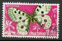 Guinée Equatoriale - Guinea 1975 Y&T N°71-0,45e - Michel N°(?) (o) - 0,45e Papillon Zérynthia - Äquatorial-Guinea