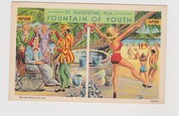 St. Augustine (USA) Fountain Of Youth, Fontana Di Giovinezza,  Pubblicitaria Illustrata - Anni '1930 - Pubblicitari