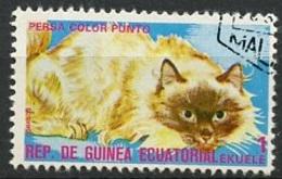 Guinée Equatoriale - Guinea 1975 Y&T N°73-1e - Michel N°(?) (o) - 1e Chat Persan - Äquatorial-Guinea