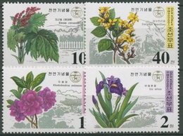 Korea (Nord) 2001 Geschützte Pflanzen: Iris, Forsythia 4473/76 A Postfrisch - Korea (Nord-)