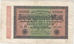 Alemania - Germany 20.000 Mark 20-2-1923 Pk 85 A Ref 19 - 20000 Mark