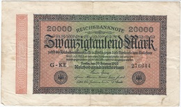 Alemania - Germany 20.000 Mark 20-2-1923 Pk 85 A Ref 72-3 - [ 3] 1918-1933 : República De Weimar
