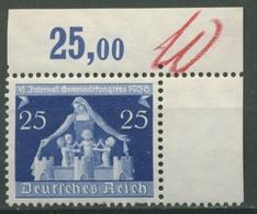 Deutsches Reich 1936 Int. Gemeindekongress 617/20 Ecke Postfrisch - Deutschland
