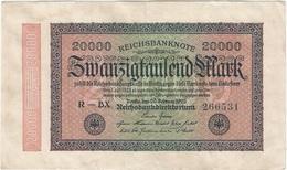 Alemania - Germany 20.000 Mark 20-2-1923 Pk 85 A Ref 72-4 - [ 3] 1918-1933 : República De Weimar