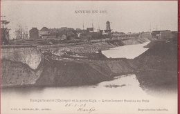 Spaanse Omwalling Antwerpen Anvers Remparts Entre L'Entrepot Et La Porte Slijk Bassin Au Bois Houtdok (zeer Goede Staat) - Antwerpen