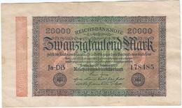 Alemania - Germany 20.000 Mark 20-2-1923 Pk 85 B Ref 69-5 - [ 3] 1918-1933 : República De Weimar